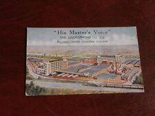ORIGINAL TUCK ADVERTISING POSTCARD - HIS MASTER'S VOICE - THE GRAMOPHONE Co. LTD