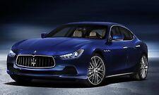Maserati Ghibli (blue) Poster 24 X 36 Inch Looks Awesome!