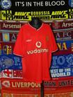4/5 Manchester United boys youth Y 164-170cm 2000 football shirt jersey trikot