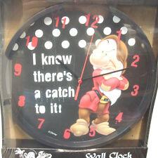Orologio da parete Disney Wll clock quartz figura Brontolo biancaneve sette nani