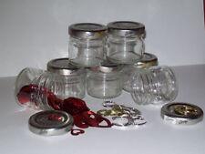 12 Small recycled empty glass jars/storage/craft/jewelry making