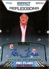 TNA Ric Flair #74 2012 Reflexxions GREEN Authentic Autograph Card SN 3 of 5
