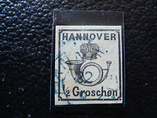ALLEMAGNE (hanovre) timbre yvert et tellier n° 16 obl (A4) stamp germany