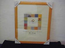 2 Stück Bilderrahmen Wechselrahmen BEL AIR ART orange für Bilder 40x50 cm (R7)