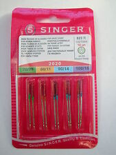 10 GENUINE SINGER SEWING MACHINE NEEDLES MIXED SIZES 70/10 80/11 90/14 100/16