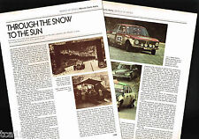vintage MONTE CARLO RALLY History Article / Photo's / Pictures