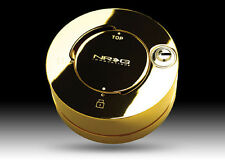 NRG Steering Wheel Quick Release Hub Lock w/ Key GOLD CHROME (Authentic NRG)