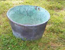 Vintage Antique Old Copper Pot Basin Cauldron Apple Butter Kettle Boiler