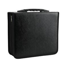400pcs Disc DVD CD Storage Sleeve Case Organizer Holder PU Leather Box Wallet
