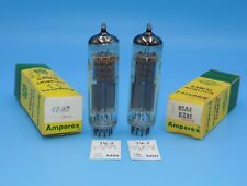 6CA4 EZ81 TUBES MADE BY AMPEREX - BOTH NOS AND TESTED
