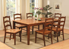 7pc Henley Dining Room Set Rectangular Table + 6 chairs padded or non-padded new