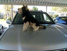 """Vintage Giant plush stuffed 24"""" Black Wolf Dog"""