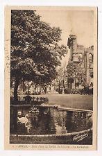 arras , pièce d'eau du jardin de l'èvêché , la cathédrale