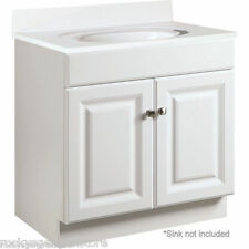 "Bathroom Vanity Cabinet Thermofoil White 30"" Wide x 18"" Deep New *Fast Delivery*"