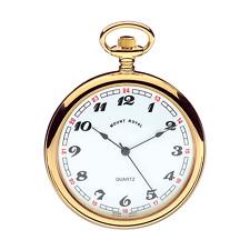 Reloj de bolsillo Chapado en Oro de cara abierta por Mount Royal Modelo no. B1