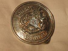 Vintage Gilroy Garlic Festival metal belt buckle JB Western Creations