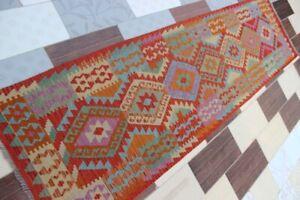 3646...Best Quality Hand Woven Lamb Wool Kilim..Size ..303 .x 82..CM