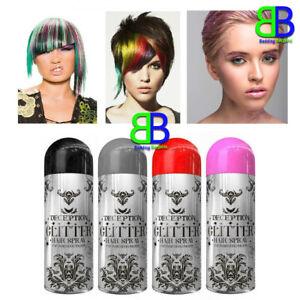 Glitter Hair Spray Colour Temporary Washable Party Christmas 4 Colours - 200ml