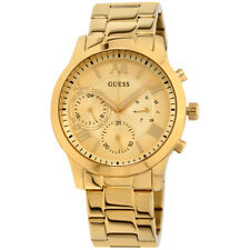 Guess Solar Gold Dial Stainless Steel Men's Watch W1070L2