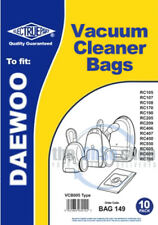 10 x DAEWOO Vacuum Cleaner Bags VCB005 Type - Fortis RC105, RC107, RC108, RC170