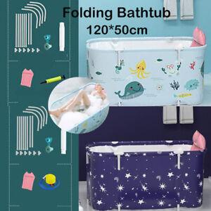 Adult Portable Folding Bathtub PVC Water Tub Outdoor Room Spa Bath Tub Home NEW
