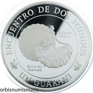 PARAGUAY 1 GUARANI 1997 BAILE DEL CÁNTARO SILVER PROOF IBERO AMERICAN ZG128
