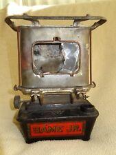 Antique GAME JR. Sad Iron Cast Iron Kerosene Stove Heater GAME JUNIOR