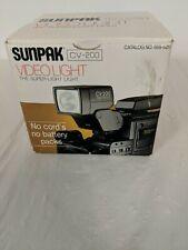 SUNPAK Compact Video Light & Power Pack Unit CV-200 w Box