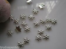 10 PIECES Christmas Metal Silver Snowflakes 3D Nail Art Decoration