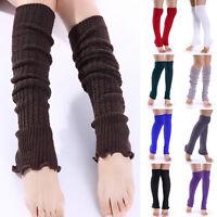 Ladies Women Winter Leg Warmers Girl Gaiters Knit Warm Boot Cuffs Leggings Socks