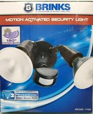 BRINKS Motion Activated Security Light 180° Detection Zone Bronze 7150B NIB
