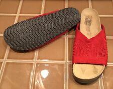 Arcopedico RED CHERI Size 42 11 Stretch Knit Cork SLIP ON Slides Sandals Shoes