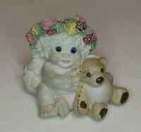 Dreamsicles DC020 Playmates 1996 Cherub and Teddy Bear