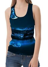 Night Moon Women Vest Sleeveless Tank Tops wb22 acr40373