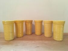 Vintage Bauer Ringware California Pottery Tumblers Tumbler - Set of 6 in YELLOW