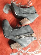 Bnwob Black Dolcis Size 6 Ankle Cuban Heel Boots