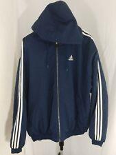 Adidas vintage puffy Winter coat huge logo 2XLblue trefoil