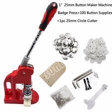 Button Maker Machine Badge Press 100 Button Supplies 325mm Circle Cutter