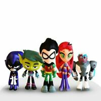 Teen Titans Go Mini Hero Raven Robin Cyborg Starfire Action Figure Toys With Box