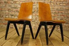 60er Vintage Esszimmer Stuhl Designer Holz Schreibtisch Stapelstuhl Nussbaum