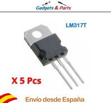 5 pcs LM317T Regulador Voltaje lineal IC Positivo ajustable 1.25 V ~ 37 V 1.5A