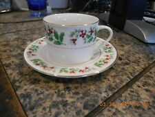 Gibson China CHRISTMAS DELIGHT Holly & Berries  CUP AND SAUCER