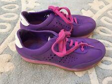 Crocs Rubber Retro Molded Purple Pink Sneakers Shoes J 4