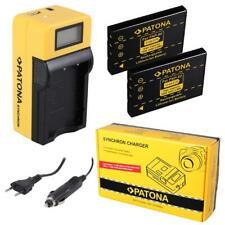 2x Batterie Patona + Chargeur Synchron LCD USB Pour Aiptek Action HD