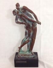 Sculpture bronze figure kiss