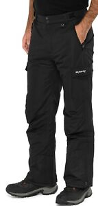 Men's Ski Gear by Arctix Snow Sports Cargo Pants Black XL (40-42W 32L)