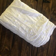 simply shabby chic white coverlet