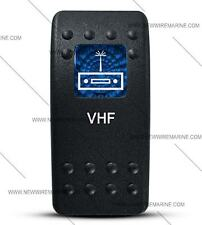 Labeled Contura II Rocker Switch COVER ONLY, VHF (Blue Lens)