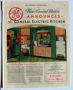 GE New Electric Kitchen ad Green 1932