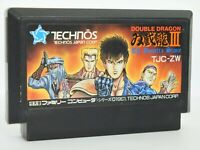 Famicom DOUBLE DRAGON III 3 Cartridge Only Nintendo Japan Game fc *